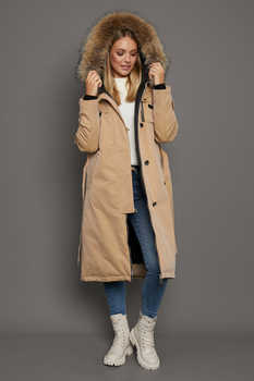 Черное зимнее пальто оверсайз с капюшоном
