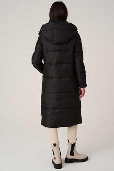Теплое длинное зимнее пальто