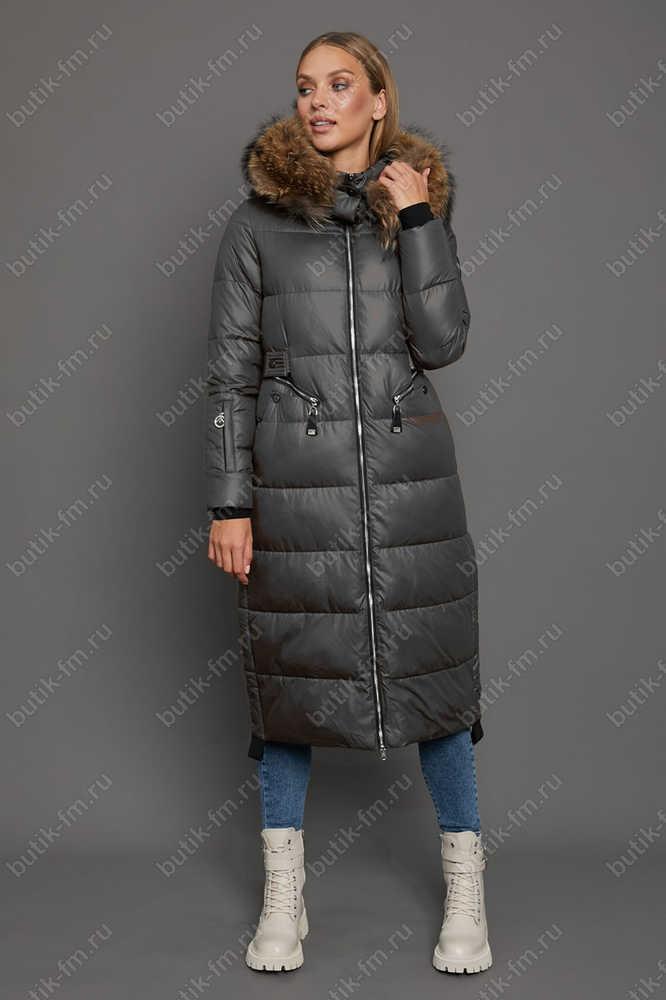 Куртка парка длинная с капюшоном